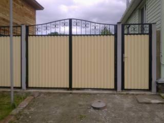 Распашные ворота с отдельной калиткой