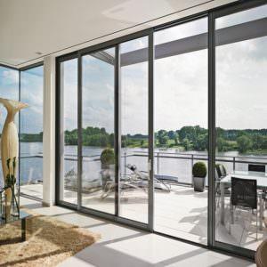 Балконные двери из алюминия