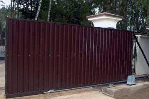 Откатные ворота для промышленных объектов