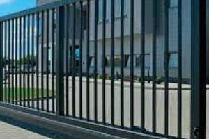 Откатные ворота въездные ворота
