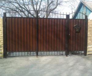 Распашные ворота в Минске